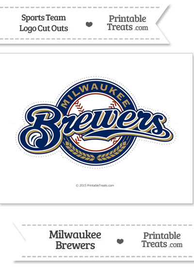 Large Milwaukee Brewers Logo Cut Out from PrintableTreats.com