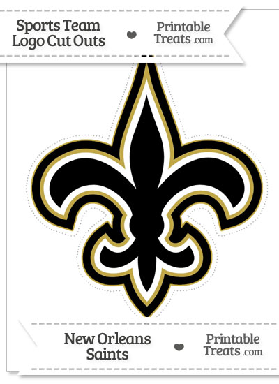 Large New Orleans Saints Logo Cut Out from PrintableTreats.com