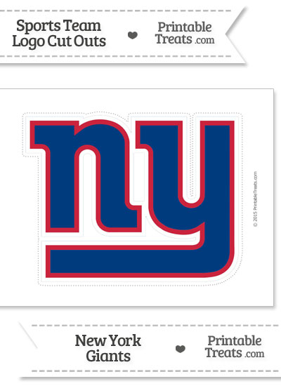 Large New York Giants Logo Cut Out from PrintableTreats.com