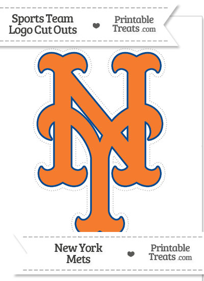 Large New York Mets Logo Cut Out from PrintableTreats.com