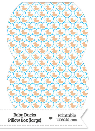 Large Orange Baby Ducks Pillow Box from PrintableTreats.com
