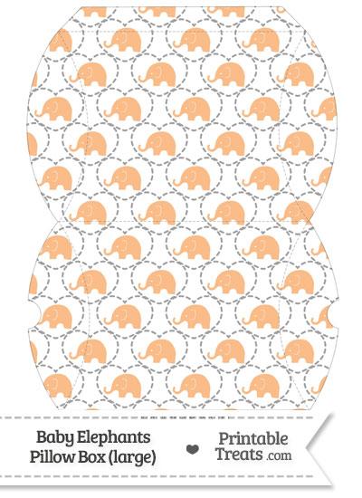 Large Orange Baby Elephants Pillow Box from PrintableTreats.com