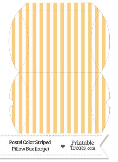 Large Pastel Light Orange Striped Pillow Box from PrintableTreats.com