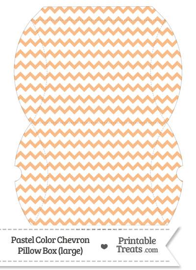 Large Pastel Orange Chevron Pillow Box from PrintableTreats.com