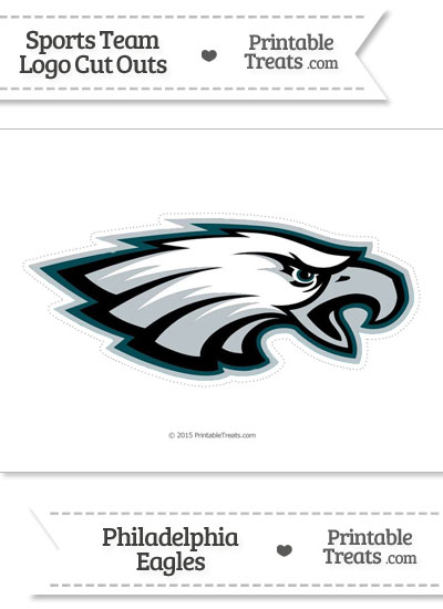 Large Philadelphia Eagles Logo Cut Out from PrintableTreats.com