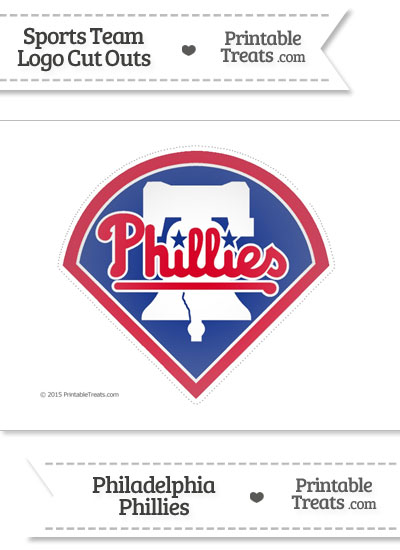 Large Philadelphia Phillies Logo Cut Out from PrintableTreats.com