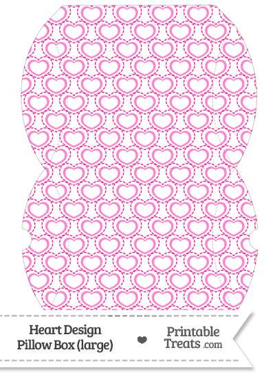 Large Pink Heart Design Pillow Box from PrintableTreats.com