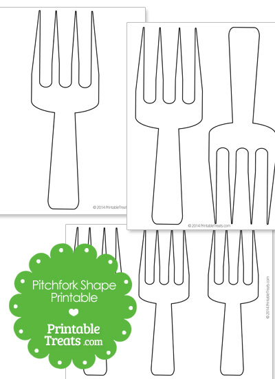 Large Pitchfork Printable from PrintableTreats.com