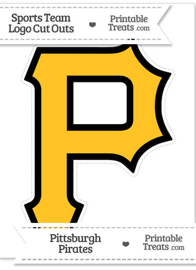 Large Pittsburgh Pirates Logo Cut Out from PrintableTreats.com