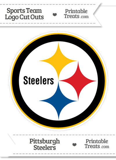 Large Pittsburgh Steelers Logo Cut Out from PrintableTreats.com