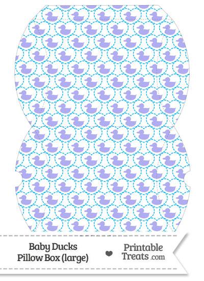 Large Purple Baby Ducks Pillow Box from PrintableTreats.com