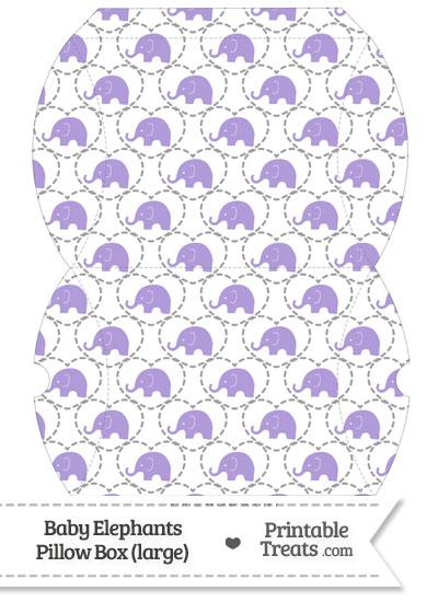 Large Purple Baby Elephants Pillow Box from PrintableTreats.com