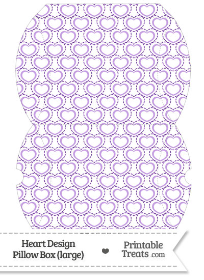 Large Purple Heart Design Pillow Box from PrintableTreats.com
