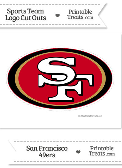 Large San Francisco 49ers Logo Cut Out from PrintableTreats.com