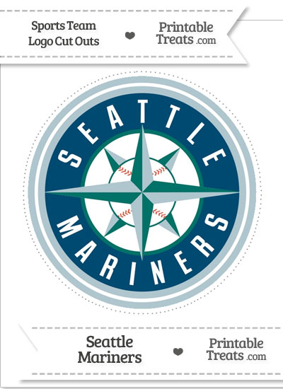 Large Seattle Mariners Logo Cut Out from PrintableTreats.com