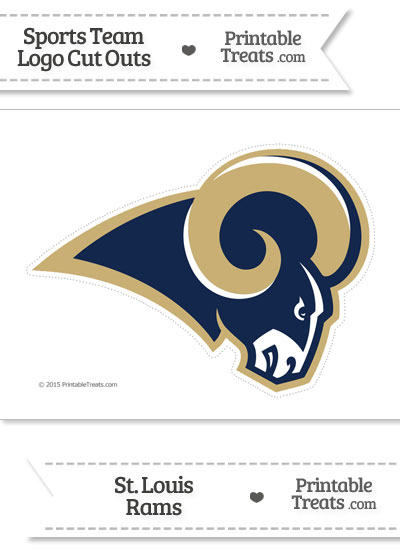 Large St Louis Rams Logo Cut Out from PrintableTreats.com