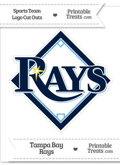 Large Tampa Bay Rays Logo Cut Out from PrintableTreats.com