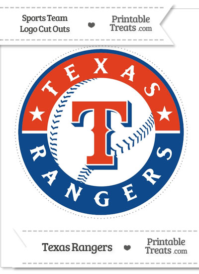 Large Texas Rangers Logo Cut Out from PrintableTreats.com