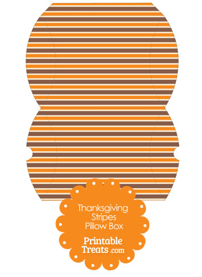 Large Thanksgiving Stripes Pillow Box from PrintableTreats.com