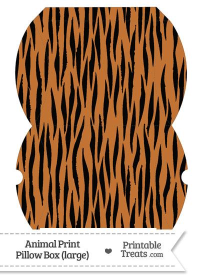 Large Tiger Print Pillow Box from PrintableTreats.com