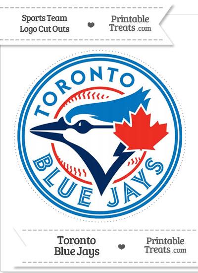Large Toronto Blue Jays Logo Cut Out from PrintableTreats.com