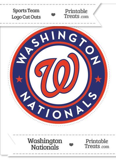 Large Washington Nationals Logo Cut Out from PrintableTreats.com