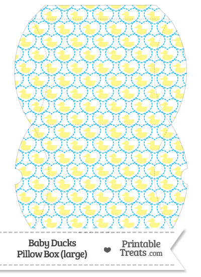 Large Yellow Baby Ducks Pillow Box from PrintableTreats.com