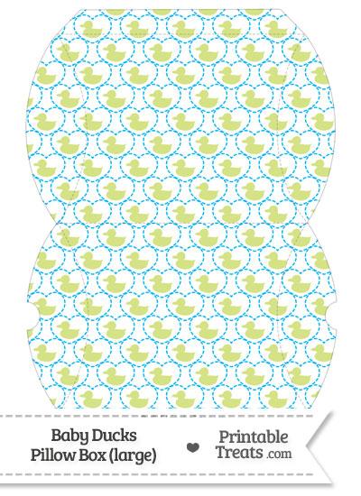 Large Yellow Green Baby Ducks Pillow Box from PrintableTreats.com