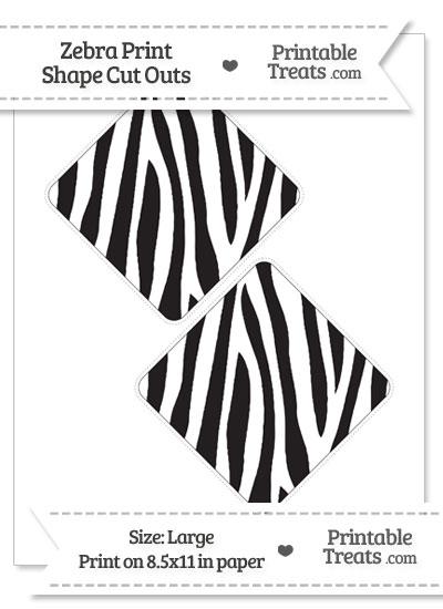 Large Zebra Print Diamond Cut Outs from PrintableTreats.com