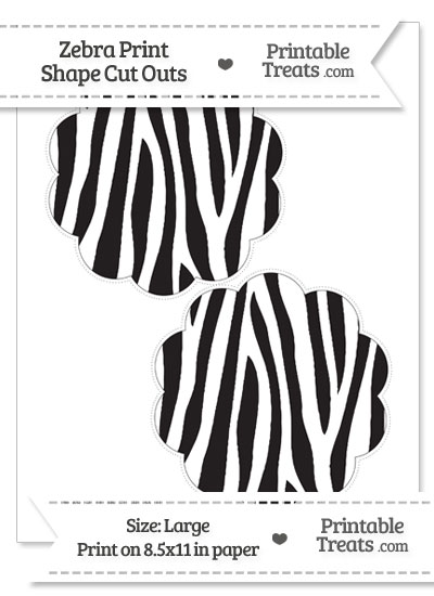 Large Zebra Print Flower Circle Cut Outs from PrintableTreats.com