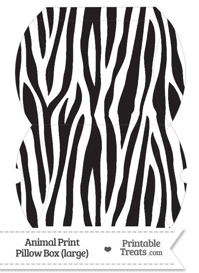 Large Zebra Print Pillow Box from PrintableTreats.com