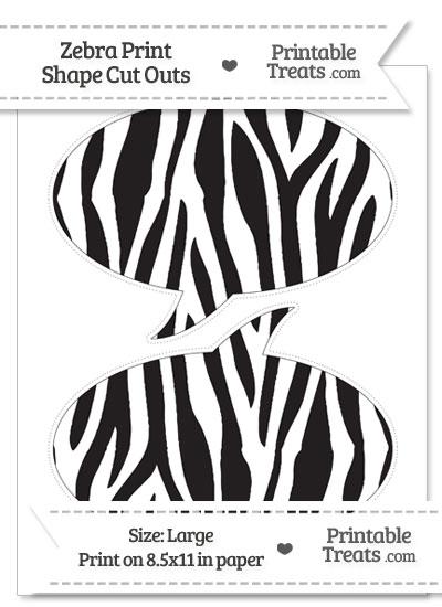 Large Zebra Print Speech Bubble Cut Outs from PrintableTreats.com