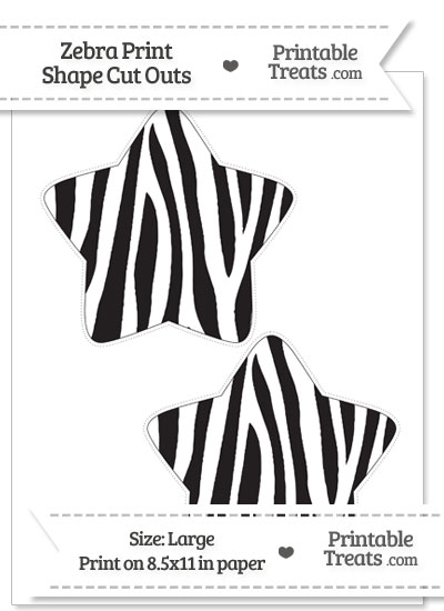 Large Zebra Print Star Cut Outs from PrintableTreats.com
