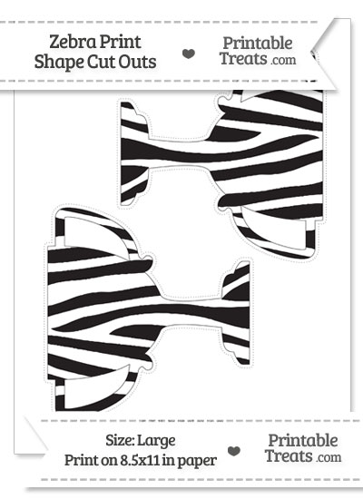 Large Zebra Print Trophy Cut Outs from PrintableTreats.com