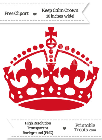 Lava Red Keep Calm Crown Clipart from PrintableTreats.com