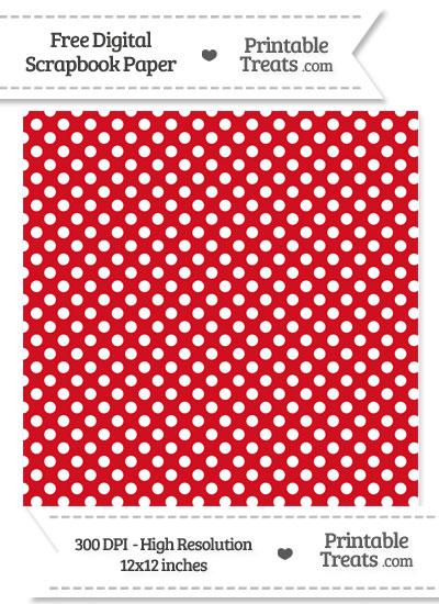 Lava Red Polka Dot Digital Paper from PrintableTreats.com