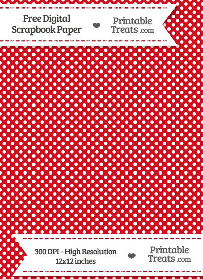 Lava Red Raised Mini Polka Dots Digital Paper from PrintableTreats.com