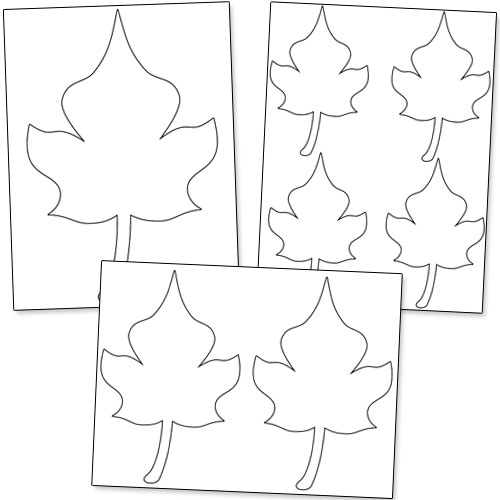 leaf shapes to cut out