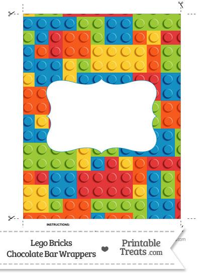 Lego Bricks Chocolate Bar Wrappers from PrintableTreats.com