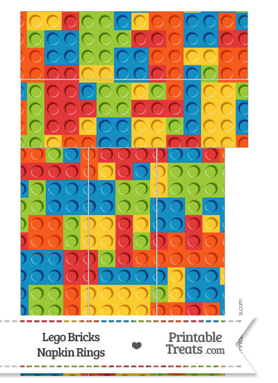 Lego Bricks Napkin Rings from PrintableTreats.com