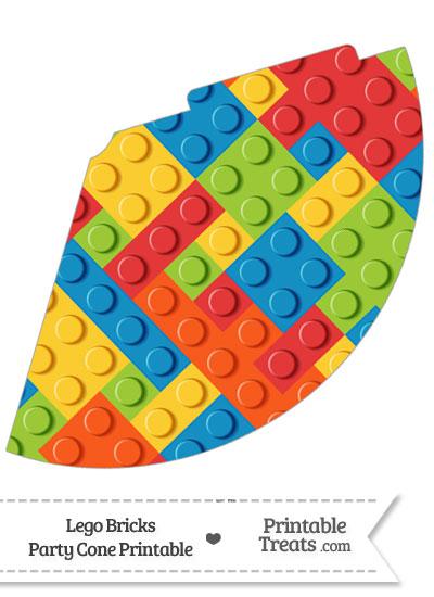 Lego Bricks Party Cone from PrintableTreats.com
