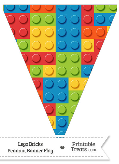 Lego Bricks Pennant Banner Flag from PrintableTreats.com