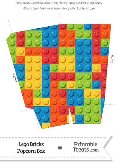 Lego Bricks Popcorn Box from PrintableTreats.com