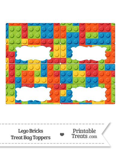Lego Bricks Treat Bag Toppers from PrintableTreats.com