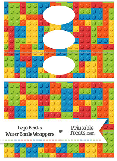 Lego Bricks Water Bottle Wrappers from PrintableTreats.com