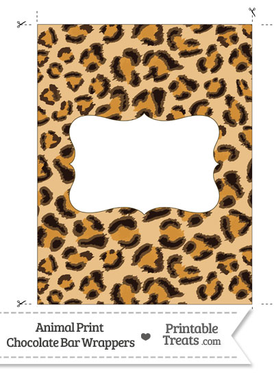 Leopard Print Chocolate Bar Wrappers from PrintableTreats.com