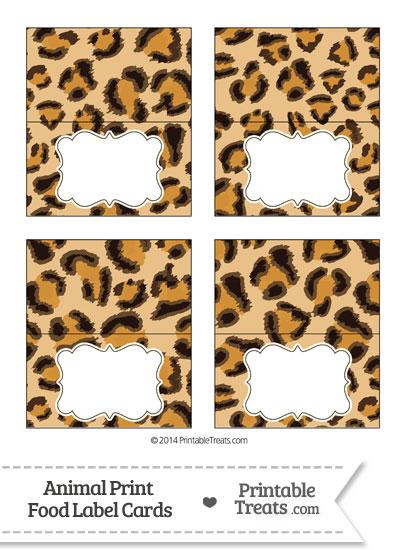 Leopard Print Food Labels from PrintableTreats.com