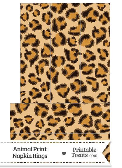 Leopard Print Napkin Rings from PrintableTreats.com