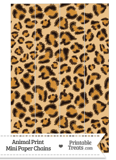 Leopard Print Paper Chains from PrintableTreats.com