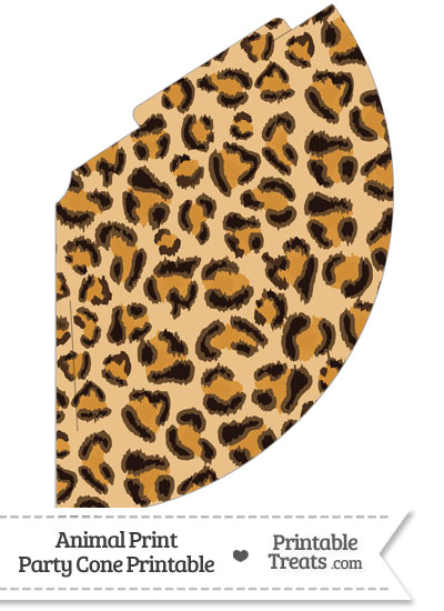 Leopard Print Party Cone from PrintableTreats.com